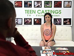 Real petite teen banged hard at sexaudition
