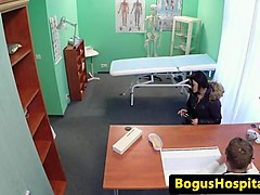 euro amateur pussyfucked by doctor before cum