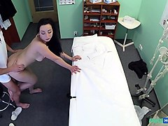 Morticia in Hot babe wants her Doctor to suck her tits - FakeHospital