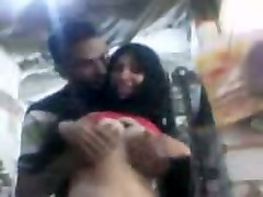 kinky indian couple have a nice time while hugging on potato camera