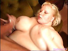 Huge breasts babe gets fucked by a good looking guy