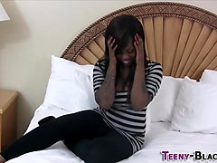 Chubby ebony face spunked