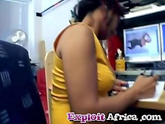 exploited african amateur riding white donger