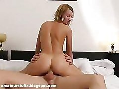 Blonde German Teen Fucked In All Holes by 2 Guys