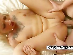 Blonde tattoo chick enjoys getting part5