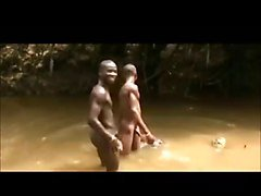 African Twinks Naked in the River