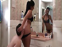Christina and Crystal Bathroom Slave Humiliation
