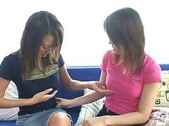 Asian Cutie Gets Down And Dirty With A Lesbian For The Very First Time