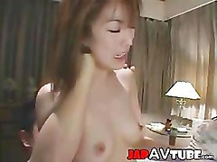 Japanese chick on double facial