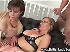 british milf gets cumshot