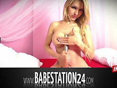 nice german babe gets naughty in babestation24 peepshow