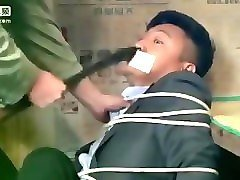 chinese tv bondage: chinese couple gagged