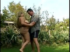 Horny Fat BBW Ex GF sucking and riding Cock Outdoors