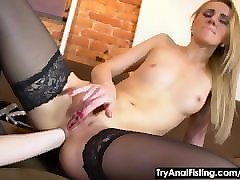 try anal fisting - lesbo dildoing and ass fisting