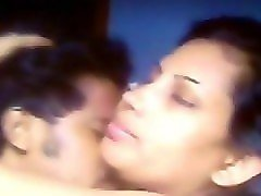 sexy south indian kissed her boyfriend all over