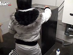 german mom pounded at public laundry