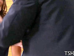schoolgirl seduced by young teacher and fucked in classroom