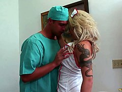 curvy nurse brooke haven and a horny doctor fucking