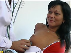 saucy raven-haired milf iveta gets nailed by her hung doctor