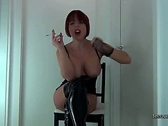 german milf smoking and dirty talk