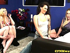 cfnm babes sharing hard cock in group