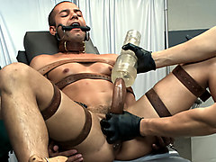 Carter West is medically examined and edged by two perverts