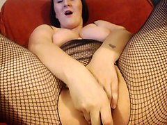 ugly bbw slut poking her asshole with sex toy
