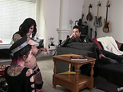 sluttishly looking whores in exciting behind the scene video