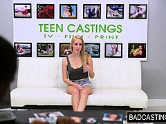 teen blonde has a harsh audition